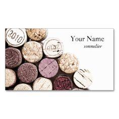 Sommelier De Vinification Texture Lieges Carte Visite Standard
