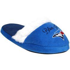Toronto Blue Jays Women's Colorblock Fur Slide Slippers - $15.99