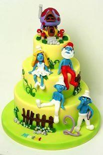 Smurfs cake  cofetariadana.ro