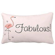 Himoud Flamingo Fabulous Pink Back Lumbar Pillowcase Pillow Covers 20 x12 inches�