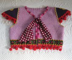 Pom Pom Folk Weste / Mädchen Weste hergestellt von heartfeltbaby