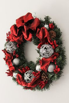 Red Color Christmas Wreath 15 by Aloha4649 on Etsy