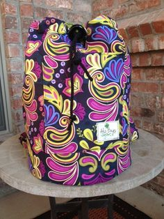 Paisley Drawstring Backpack Tote by AlSoBags on Etsy, $42.00