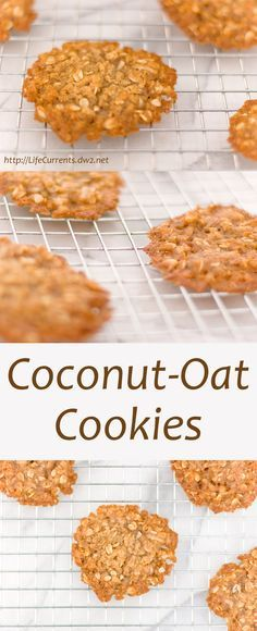 Coconut Oat Cookies: super yummy simple little cookies that are easy to make. I like to keep the dough in my freezer so I always have a cookie fix when I need it! Ingredientes Vegetarian Alimentos para el desayuno 1 cup Rolled oats Condimentos 1 tbsp Honey or molasses Alimentos horneados y especias 1 cup All-purpose flour 1/2 tsp Baking soda 1 cup Brown sugar Nueces y semillas 1 cup Coconut, unsweetened Lácteos 1/2 cup Butter Líquidos 2 tbsp Water