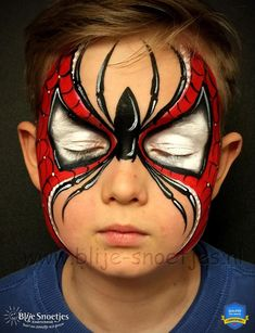 Simple face painting designs are not hard. Many people think that in order to have a great face painting creation, they have to use complex designs, rather then simple face painting designs. Superhero Face Painting, Face Painting For Boys, Body Painting, Simple Face Painting, Face Painting Tutorials, Face Painting Designs, Paint Designs, Spider Man Face Paint, Mime Face Paint