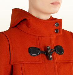 dark orange wool duffle coat