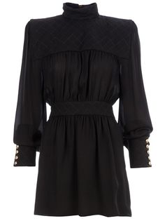 BALMAIN Roll Neck Minidress