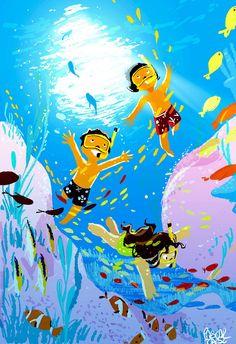 Искусство Для Детей, Иллюстрации, Морское Искусство, Время Для Душа, Компьютерные Иллюстрации, Детские Рисунки, Комиксы, Трафаретные Печати, Художественные Комнаты