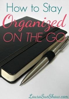 Such simple tips on how to stay organized - even when you're busy and constantly on the go. These ideas will make your life easier!