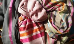 Buy silk, chiffon, cashmere or wool shawls for both women and men exclusively from Le Patio. Beige Color, Silk Chiffon, Urban Fashion, Shawls, Plaid Scarf, Cashmere, Scarves, Peach, Warm
