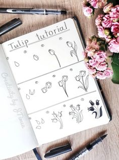 Gorgeous tutorial on how to draw a tulip by ig@creativitybyjtimea.