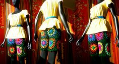 Crochet Shorts - Retro Granny Circles To Squares   Flickr - Photo Sharing!