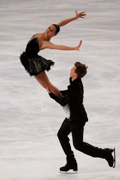 Russian ice dancing pair Ilinykh and  Katsalapov at the 2014 Winter Olympics in Sochi, Russia