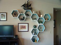 Customizable Honeycomb Shelves 5 shelf set by HaaseHandcraft