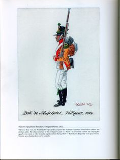 Foreign Troops: Plate 45: Neufchâtel Battalion, Voltigeur Private, 1812.