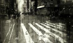 Così gli impressionisti avrebbero dipinto Manhattan e San Francisco.  Viene da pensarlo osservando la pittura a olio (su pannelli di legno) di   Jeremy Mann , classe 1979, che ha ritratto la  Grande Mela e la città californiana, dove vive, con una tecnica che  ricorda quella di artisti