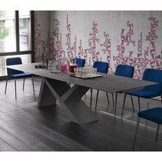 """Wonder Concrete Extendable Dining Table, 117 - 158"""" 