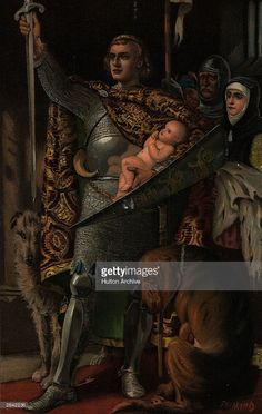 King Edward I presents his son, the first Prince of Wales, who would later succeeded his father as King Edward II . English Monarchs, Plantagenet, Prince Of Wales, The One, Celtic, Sons, Royalty, Father, Presents