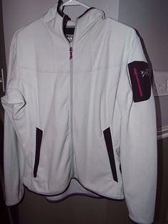 Arc'teryx Polartec Zip Up fleece jacket womens size XL, off white , EUC, #Arcteryx #FleeceJacket #Outdoor