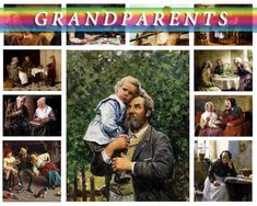 GRANDMOTHER and GRANDFATHER on 147 vintage paintings of old people High resolution digital download item images collection printable granny           data-share-from=listing        >           <span class=etsy-icon