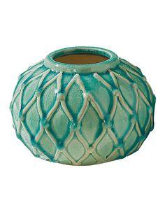 Another great find on #zulily! Aqua Gradient Round Vase #zulilyfinds