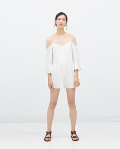 ZARA - TRF - OFF-THE-SHOULDER JUMPSUIT