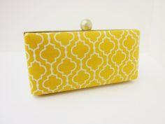 wedding clutch purse marigold/bridesmaid by VincentVdesigns, $48.00