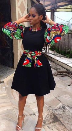 2020 Hot Ankara Plain And Pattern Dresses For Ladies To Rock African Inspired Fashion, Latest African Fashion Dresses, African Dresses For Women, African Print Fashion, Africa Fashion, African Attire, African Wear, African Women, African Print Dress Designs