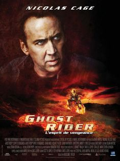 Ghost Rider movie poster. Best comic book character ever.