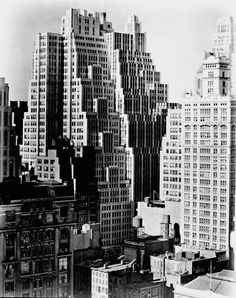 NYC. 40th Street between Sixth and Seventh Avenues, Manhattan, 1938 // by Berenice Abbott