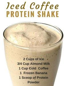 These recipe! It is super filling (holds over until lunch), low in calories, high in protein, and the perfect morning drink and weight loss! (about 115 calories ) healthy drinks Iced Coffee Protein Shake Recipe Smoothie Drinks, Healthy Smoothies, Healthy Drinks, Smoothie Diet, Simple Smoothie Recipes, Basic Smoothie Recipe, Breakfast Smoothies, Detox Drinks, Green Smoothies