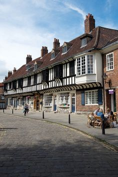 College Street,York ,UK. Death Comes To Pemberly was filmed here.