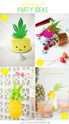 Pineapple Party & Craft Ideas #trend