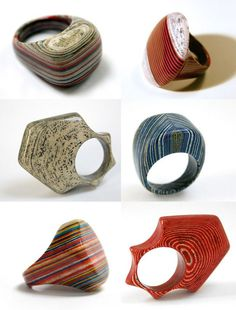paper rings by Jerem