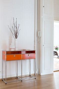 Orange USM console table