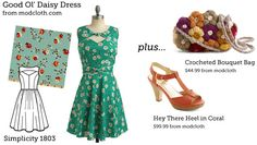 (via Make This Look: Good Ol' Daisy Dress | The Sew Weekly - Sewing  Vintage Lifestyle)