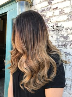 Honey blonde ombre balayage by @amy_ziegler