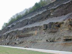 Epeiric Seas Outcrops | Ohio Shale of Devonian euxinic epeiric seas