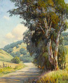 Paul A. Grimm (American, 1891-1974) Delightful Region (1939) oil on canvas board 24 X 20 in.