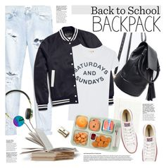 """""""Back to School: New Backpack"""" by houseofhauteness ❤ liked on Polyvore featuring One Teaspoon, Sandro, Sundry, Frends, Converse and Kate Spade"""