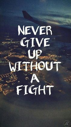NEVER GIVE UP WITHOUT A FIGHT...#dailyquotes