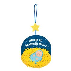Sleeping Baby Jesus Ornament Craft Kit - OrientalTrading.com