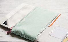 DIY-Anleitung: iPad-Hülle mit Reißverschluss nähen via DaWanda.com