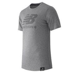 New Balance 53511 Men's Short Sleeve Logo Tee - Grey (MT53511AG)