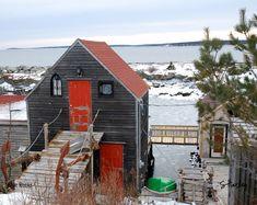 Blue Rocks in Winter, Nova Scotia