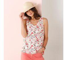 Top s potiskem květin | blancheporte.cz #blancheporte #blancheporteCZ #blancheporte_cz #moda #fashion #exkluzivni #exclusive
