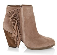 Enjoy the fringe on this fun Vince Camuto shoe! It's the infinite, easy-zip, wear-anywhere boot made for any season and any reason! Sumptuous soft suede, comfortable chunky leather heels and fabulously fun fringed trim collide for an explosion of style! Pair with skinny jeans, breezy sundresses and even shorts, this timeless trend hits the spot!
