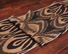 ikat fabric throw pillow ikat cushion suzani decor by DecorUZ Ikat Pillows, Velvet Pillows, Cushions, Velvet Upholstery Fabric, Ikat Fabric, Printed Silk Fabric, Handmade Pillows, Sell On Etsy, Animal Print Rug