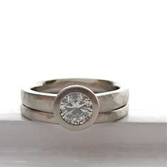Pebble Ring Squared engagement ring and by singleBbeautiful, $1475.00