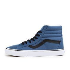 Vans Sk8-Hi Reissue Canvas Navy Black Schuhe Sneaker Skaterschuhe Blau Schwarz in Kleidung & Accessoires, Herrenschuhe, Turnschuhe & Sneaker | eBay